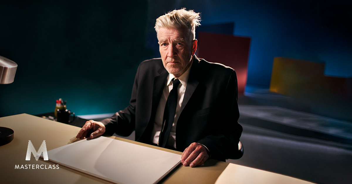 video shoot on sound stage in los angeles for david lynch masterclass